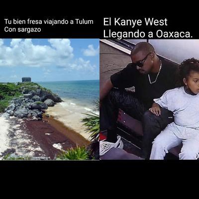 Kanye West 'intenta olvidar' a Kim desde Oaxaca y los memes no lo perdonan
