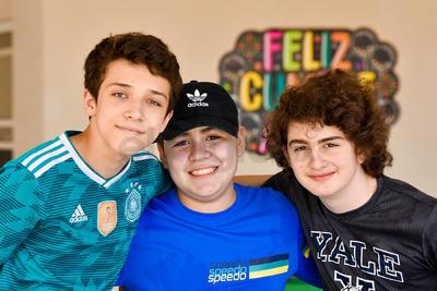 José Antonio, Asael y Juan Pablo.