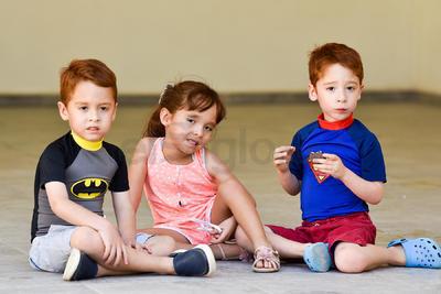 Mauricio, Gretel y Rodrigo.