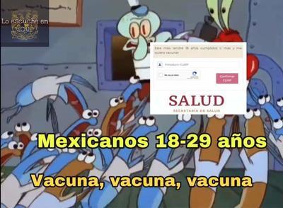 Llegan los memes con el registro de vacunación para los jóvenes entre 18 y 29 años
