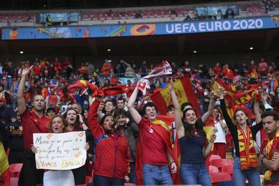 El color previo al partido entre Italia y España de la Euro 2020