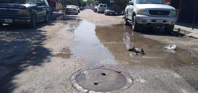 Lleva fuerza. En la calle Francisco Villa y su cruce con la Acequia hay un gran brote de agua que lleva incluso gran corriente desde la mitad de la cuadra, por lo que esta zona siempre permanece húmeda.