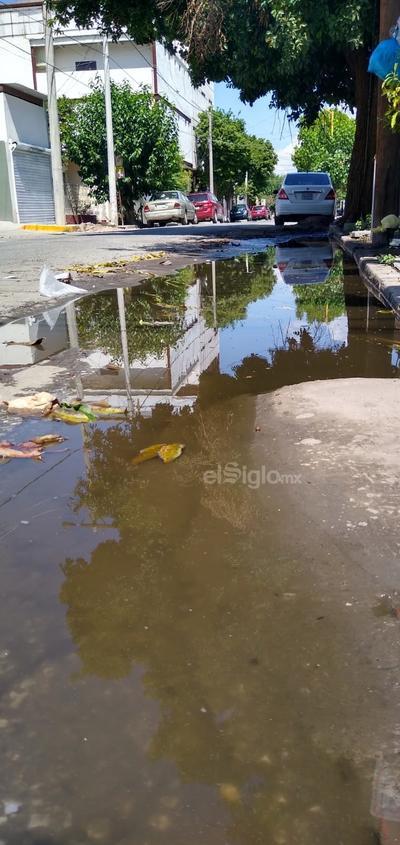 Más aguas negras. Matamoros y Guerrero es otro punto donde suele haber brotes de aguas negras que además dan muy mal aspecto a la ciudad. Se encuentra solo a unas cuadras de la presidencia municipal.