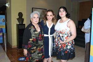 10072021 Bertha Almazán, Karina Cuevas y Daniella Arias.