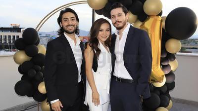 Andrés Díaz, Miriam Riquelme y Fernando Oviedo.