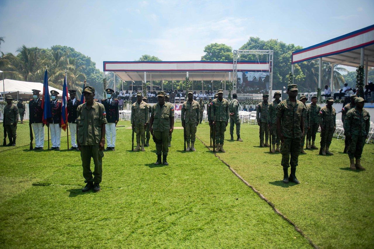 El presidente de Haití asesinado Jovenel Moise es sepultado en Cap-Haitien