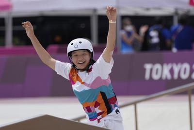 Destacan adolescentes en podio de skateboarding de Tokio 2020