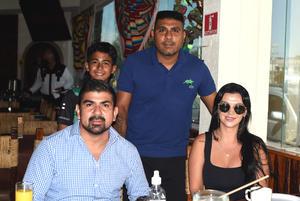27072021 Daniel Ludueña, Romina Rodríguez, Daniel Ludueña Jr. y Enrique Ramírez.