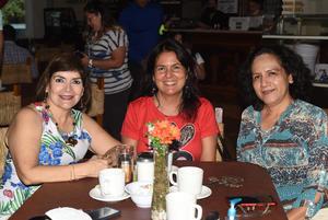 27072021 Raquel Lozano, Angélica González y Rosa Irma Morales.