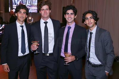 BODA. Rodrigo Chousal, Rafael Montaña, Andrés y David Chousal asisten a boda de Beatriz y Mauricio.