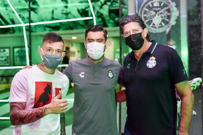 Brayan Lozano, Eliseo Lucero y Nicolás Navarro.