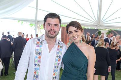 Alejandro Barrio y Natalia Tijerina.