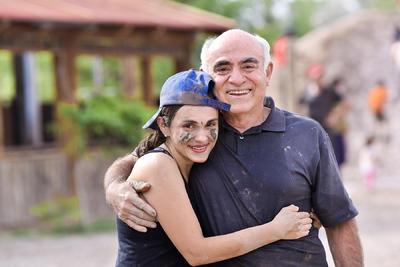 Jessica con su papá, Gerardo.