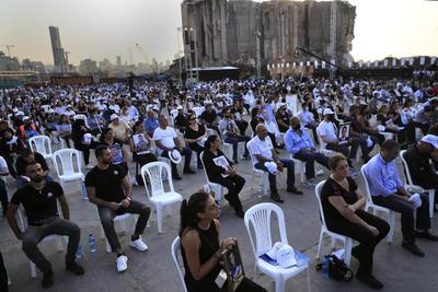 Beirut demanda justicia y honra a sus víctimas en el aniversario de explosión