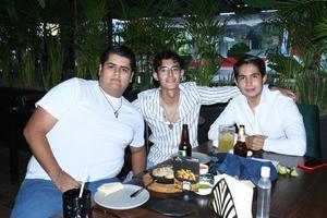 09082021 Mario Nieves, Erick Lara y Saul Valdés.