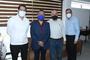 10082021 Alfonso Calvillo, Adrián López, Hugo Rivera de la Cruz y Eloy Rivera de la Cruz.