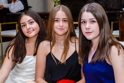 Valeria Garza, Valentina Tamayo y Regina Rebollo.