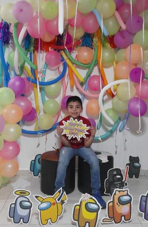 15082021 Hoy 15 de agosto en el festejo de Santiago Salazar Estrada por sus 8 años. ¡Felicidades!