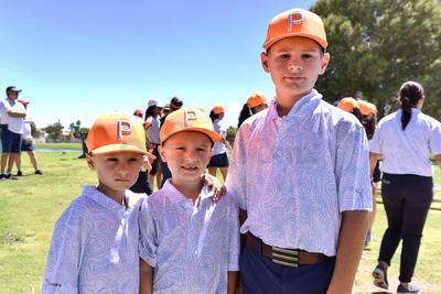 GOLF. Julián, Matías y David en jugada de convivencia de los Tigers del Campestre de Torreón.
