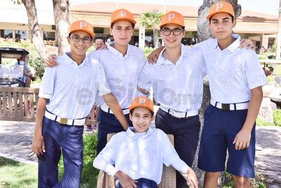 Javier Allegre, Diego Allegre, Diego Dueñes, Enrique Mery y Rogelio Barrios.
