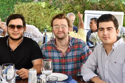 Rafael Martínez, Roberto Martínez y Eduardo García Colores.