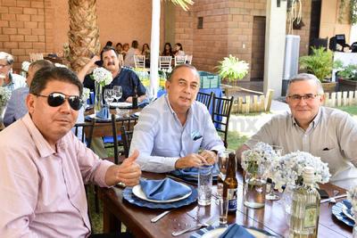 Luis Cantú, Rogelio Montemayor y Miguel Murra