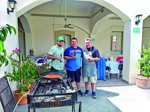 29082021 En familia Marcos Jaramillo, Mauricio Almeida y Omar Segovia.