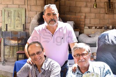 Salvador, Roberto y Alfredo