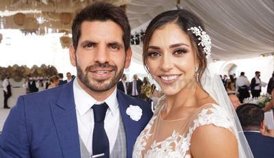 Los nuevos esposos: Nini y Carlos