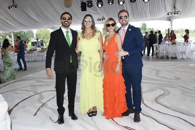 Adán, Carla, Adriana y Salvador