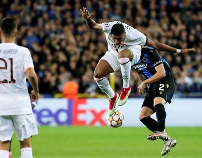 La ofensiva del PSG con Messi-Neymar-Mbappé no puede con el Brujas