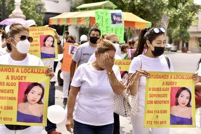 'Todos somos Sujey'; familiares marchan en Torreón para exigir verdad y justicia tras su desaparición en Mazatlán