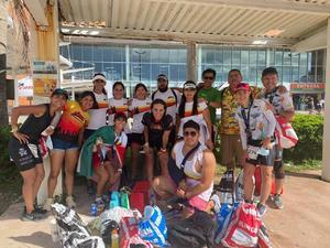 01102021 ENTRE AMIGOS EL DEPORTE ES MEJOR.  El equipo 'La Pandilla' disfruta de la adrenalina en el IRONMAN de Cozumel.