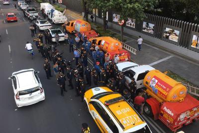 Gremio Gasero Nacional protesta con paro en calles de CDMX