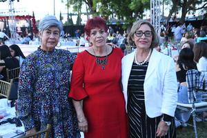 14102021 Olivia Alvarado, Magdalena Gándara y Rosy de Mora.