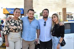 24102021 Ivette, Daniel De la Cruz, Lic. Roberto Vega y Nancy Chapa.