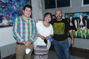 23102021 Héctor Castro, Isela Morales y Hans Simón.
