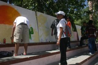 Pintan mensajes sobre cuidado del agua
