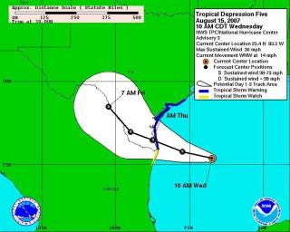 Alerta de tormenta tropical en Golfo de México