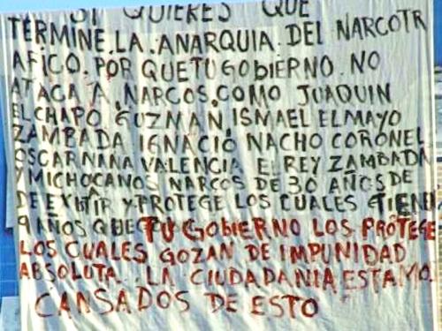 Aparecen 'narcomantas' en varias ciudades de Coahuila