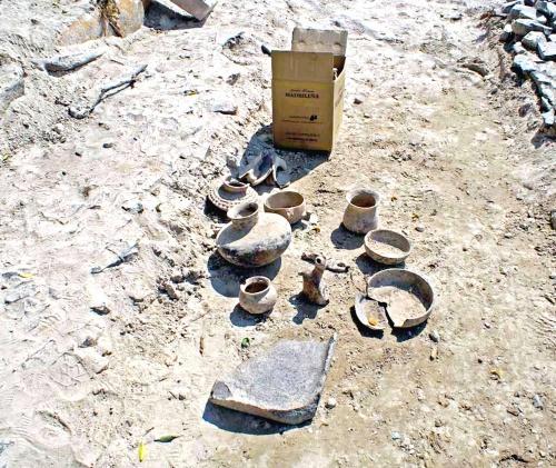 Hallan piezas arqueológicas en Jalisco