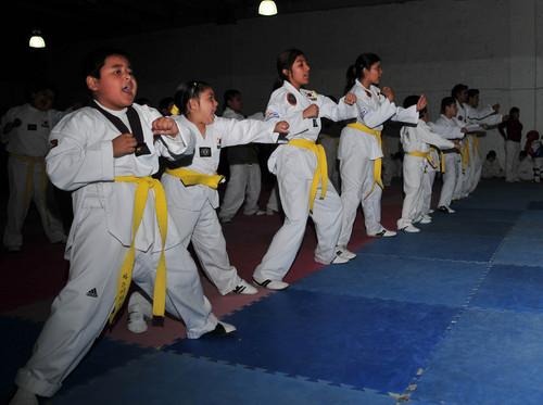 Evalúan desempeño de alumnos de Cheng Woo Hoi -Tae Kwon Do