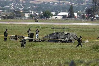 Se desploma helicóptero de la Sedena en Oaxaca
