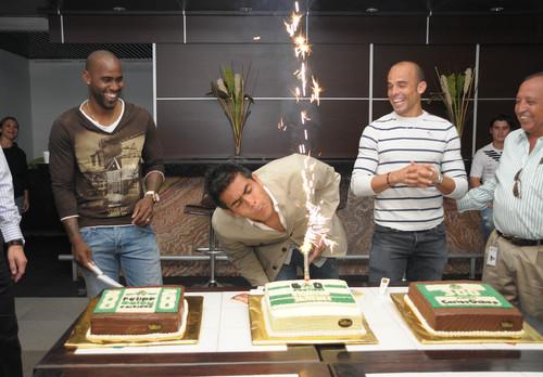 Oswaldo, Baloy y Ochoa festejaron con pasteles