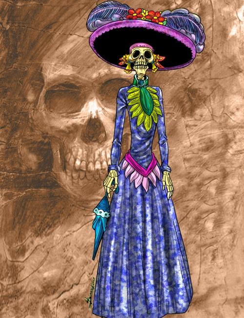 Sombrero significado elegantes vestidos de catrinas jpg 500x651 Sombrero  significado elegantes vestidos de catrinas e5721baeede