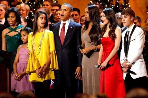Conocen las hijas de Obama a Justin Bieber