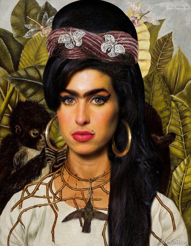 Amy winehouse al estilo frida kahlo - Estilo frida kahlo ...