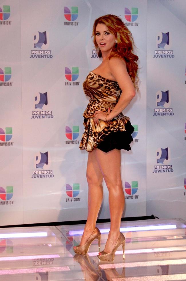 La actriz, cantante y conductora venezolana Alicia Machado, ex Miss