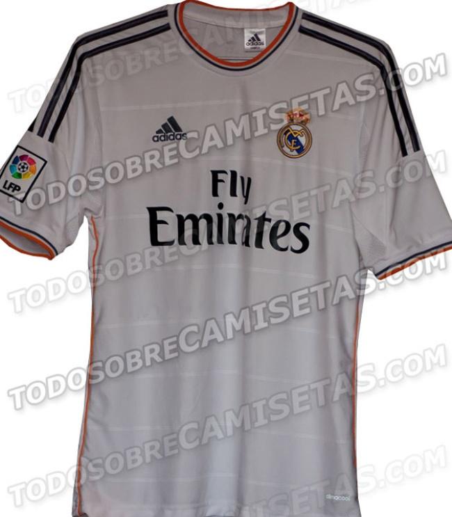 Circula posible camiseta del Real Madrid para 2013-2014
