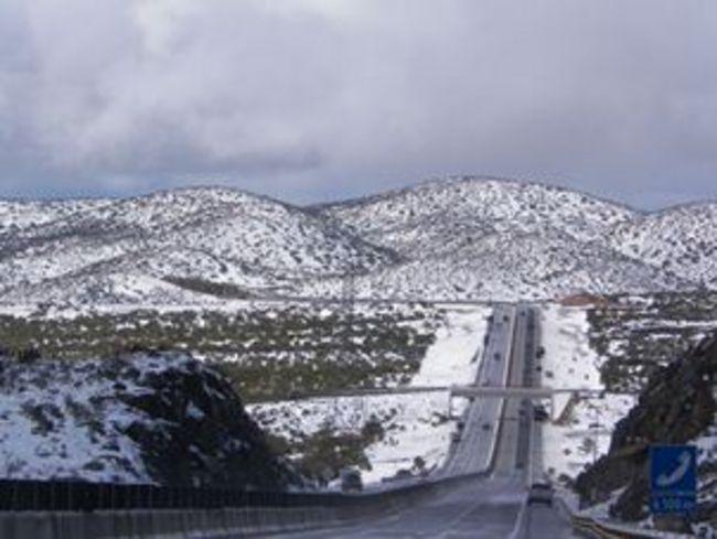 Llegan las nevadas al comienzo de 2013